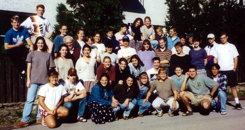 Salzburg group with Fr. Art Wheeler, C.S.C., 1995-96