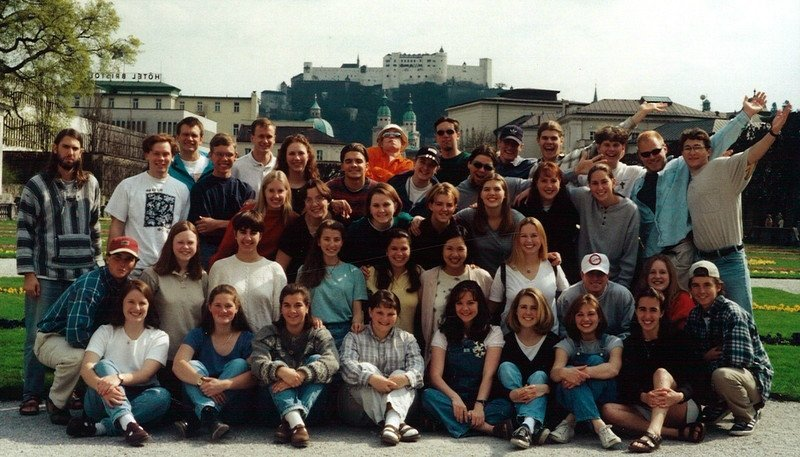 Salzburg group with Fr. Jim King, C.S.C., 1996-97