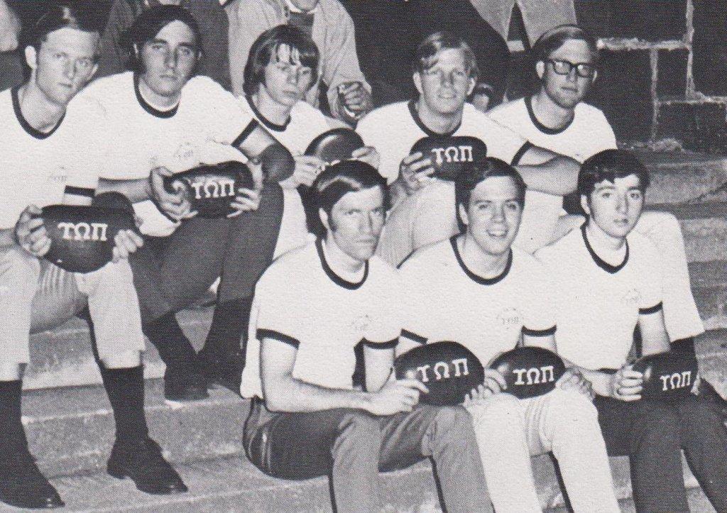 Upsilon Omega Pi pledges in 1969