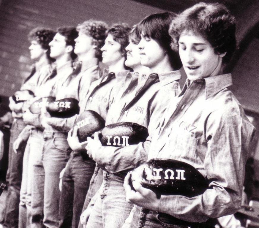 Upsilon pledges: John Weever, James Klos, Michael Merrill, Mike Covert, John O'Keefe, Stuart Van Riette, Cliff Kucera, 1981