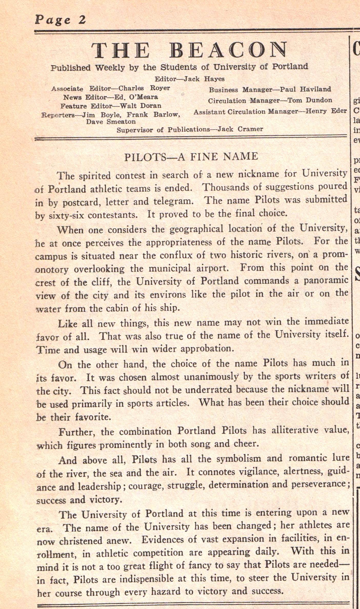The Beacon, April 12, 1935