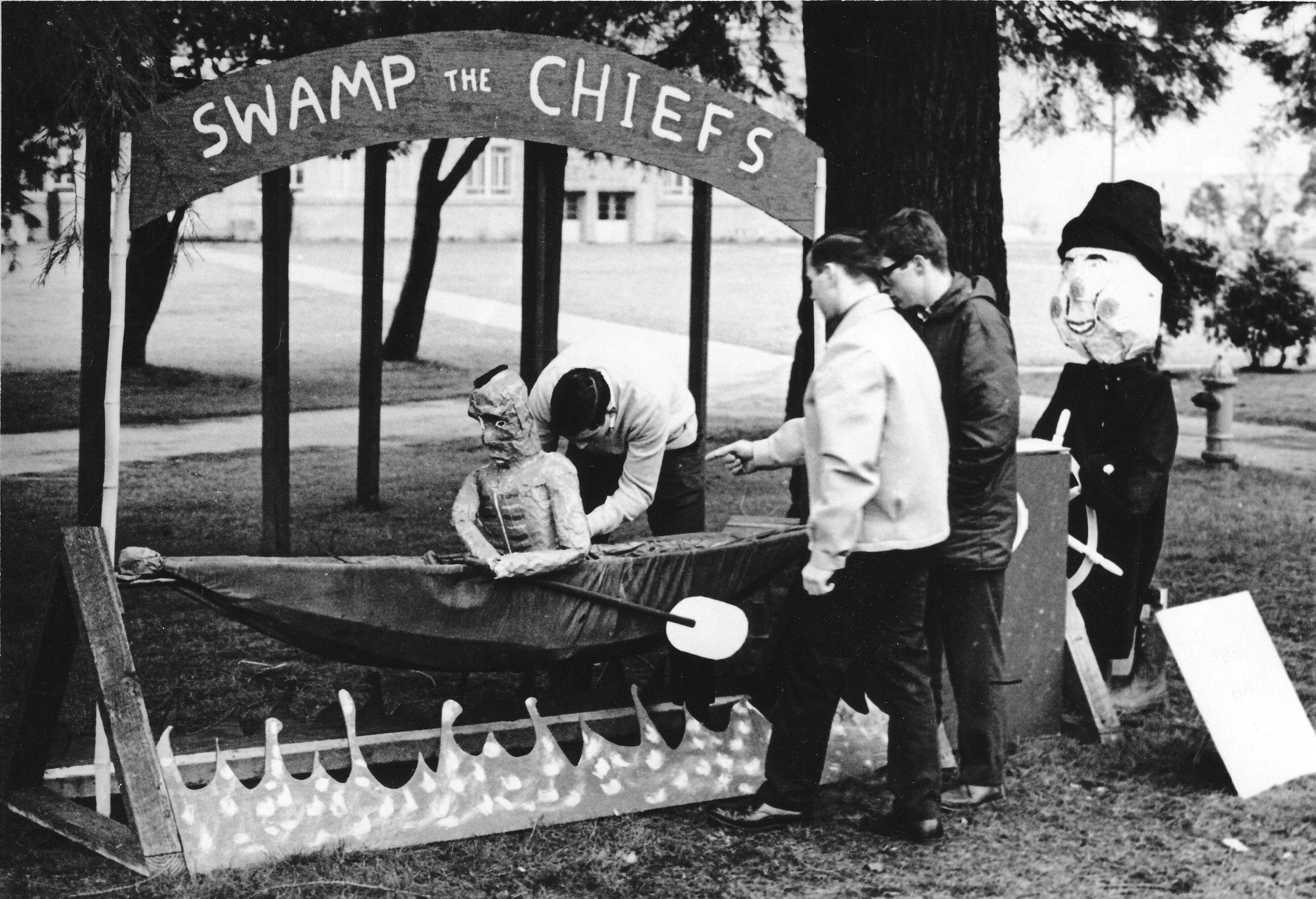 Homecoming display, 1965 or 1966