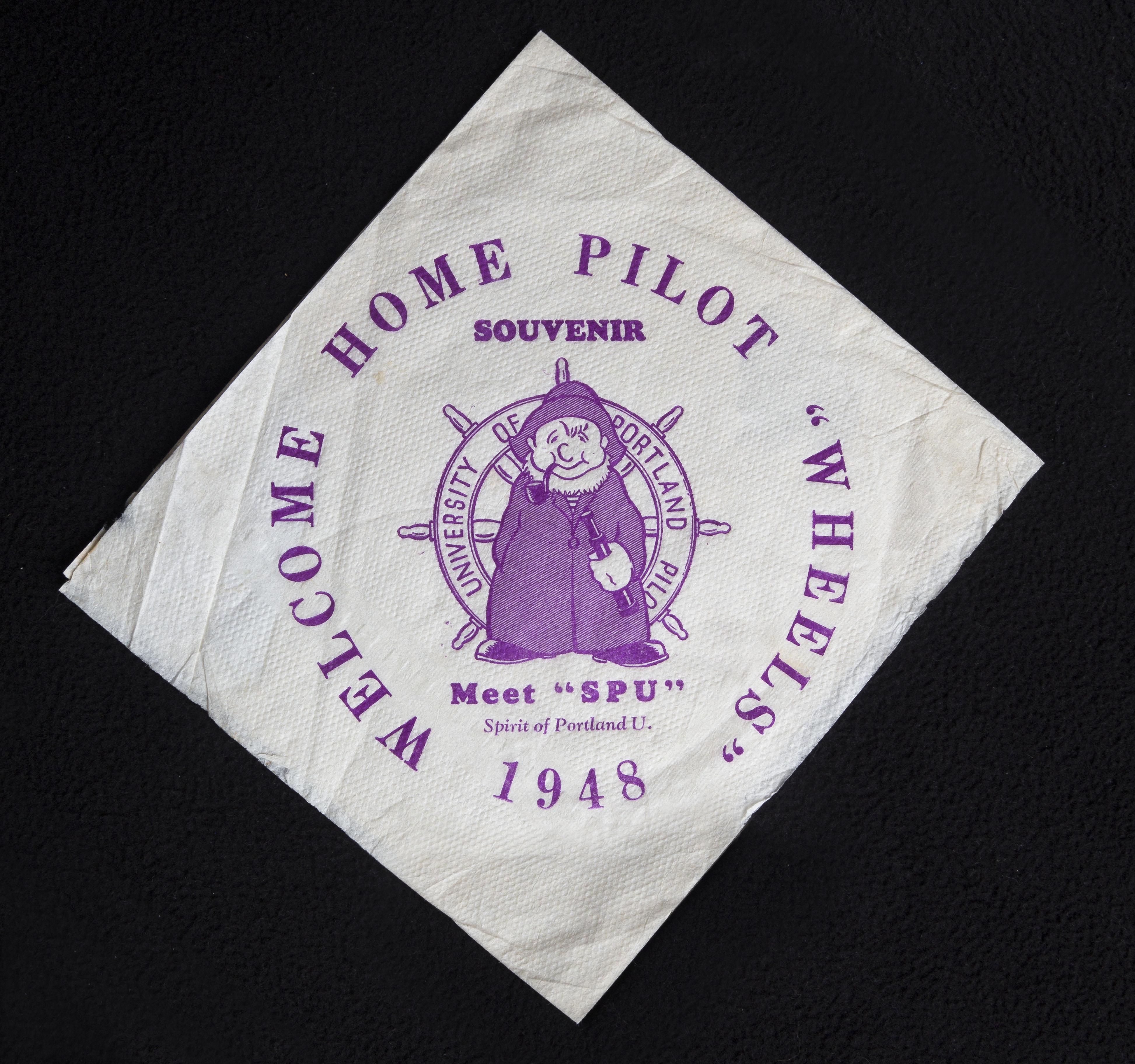 Spirit of Portland U napkin, 1948
