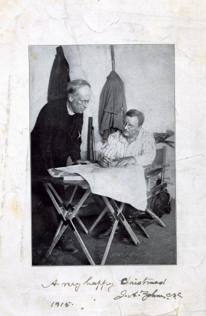Rev. John Zahm, C.S.C. and Theodore Roosevelt, 1915 Christmas Roosevelt File1082