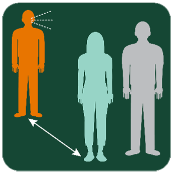 Illustration of another person near the person who was designated a contact on in the previous image.