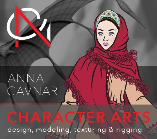 Anna Cavnar. Character Arts; design, modeling, texturing, and rigging
