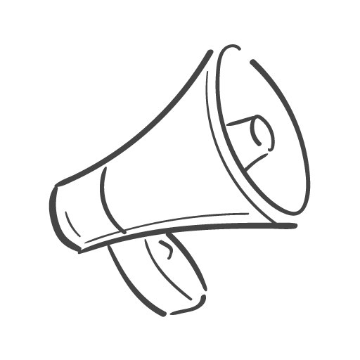 megaphone communication icon