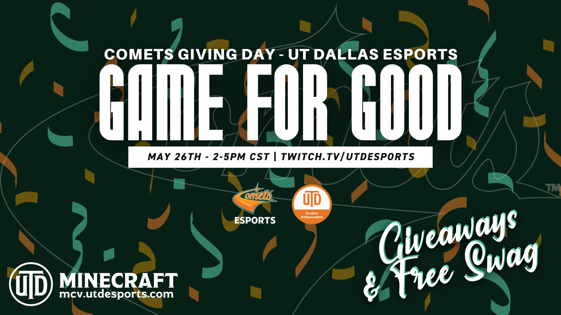 Announcing Game For Good – Comets Giving Day 2021