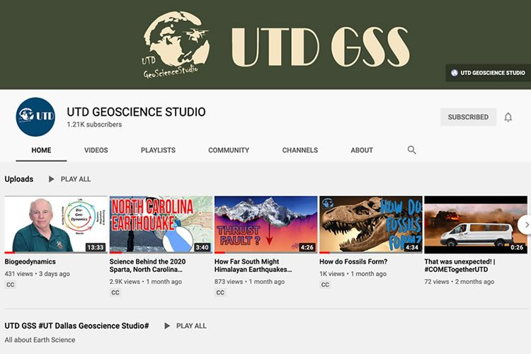 UTD GSS YouTube Screenshot