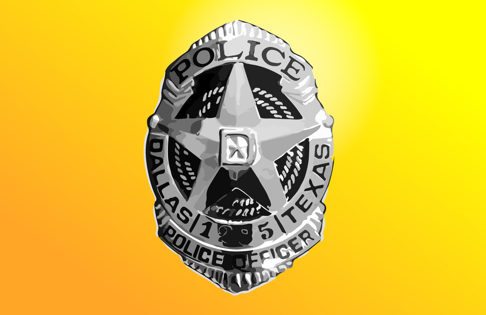 Dallas Police Officer Badge
