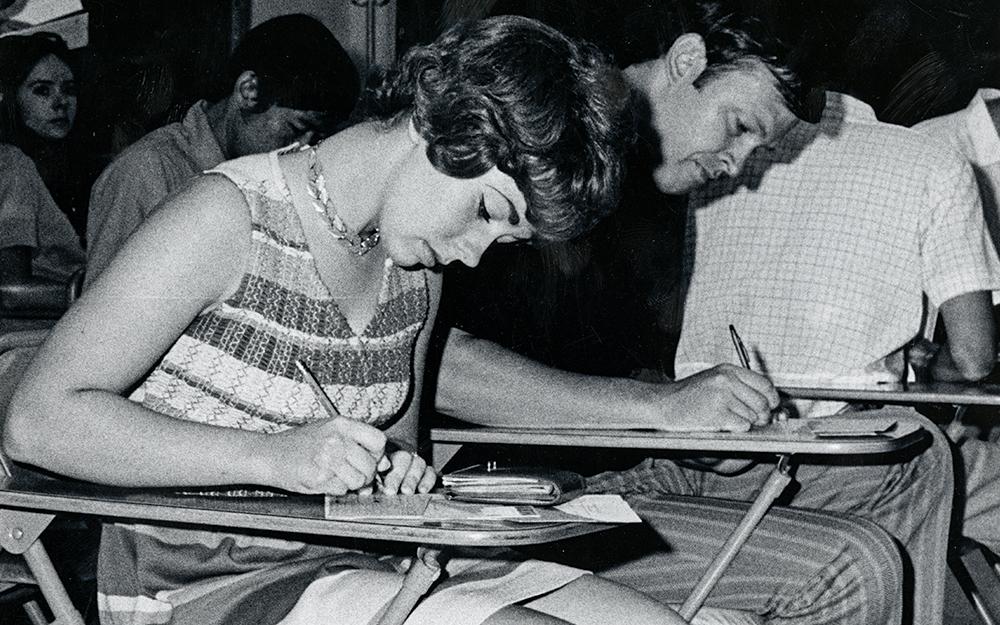Students at classroom desks