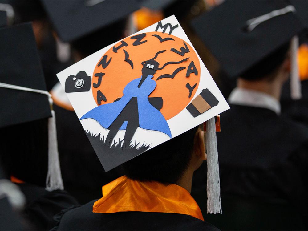 Graduation cap that reads my ninja way