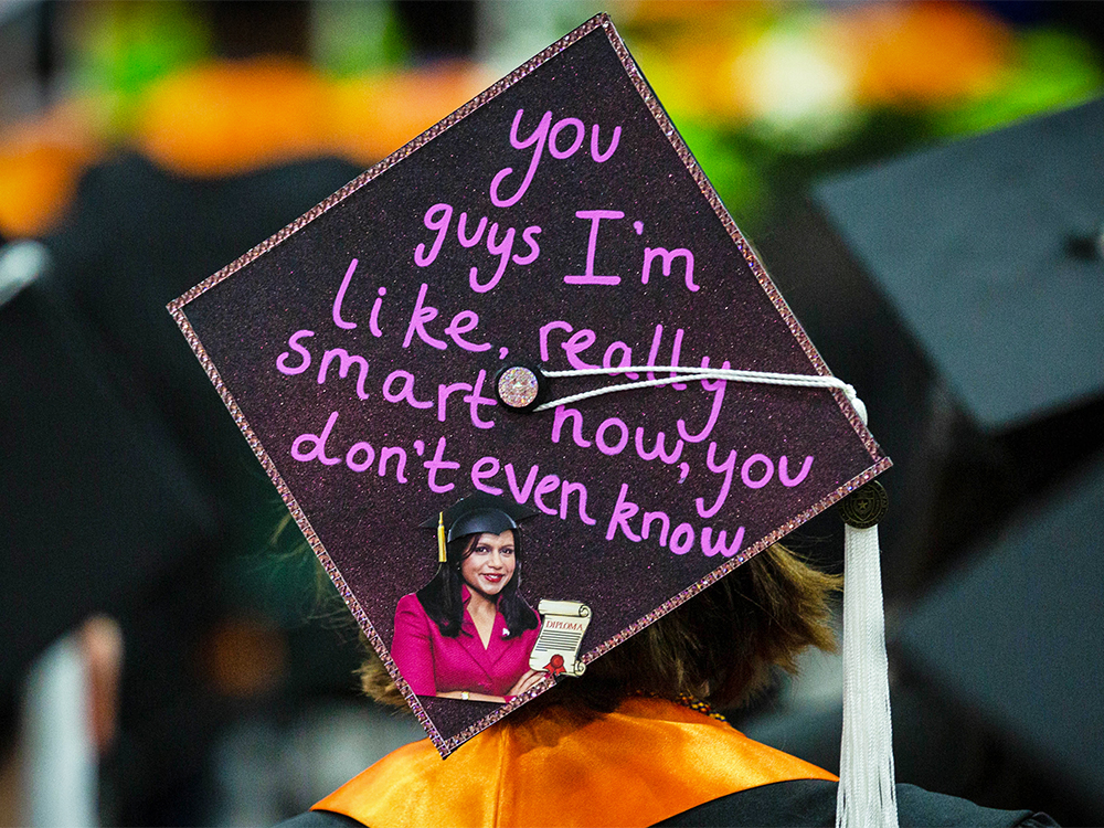Graduation cap that reads you guys I'm like really smart now you don't even know