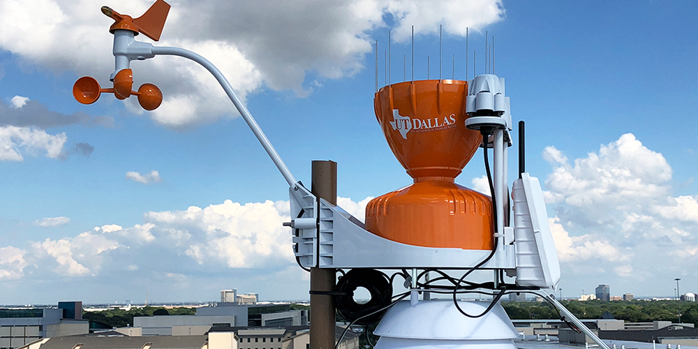 Weather instrument atop a roof