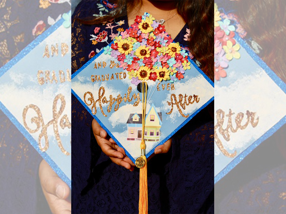 Cap that says and she graduated happily ever after