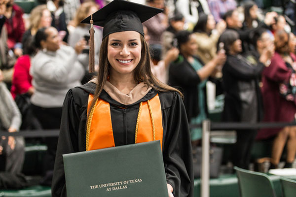 Hannah Marie Hughes graduated with a master's degree in finance. Hughes was a member of the Honor Society of Phi Kappa Phi and Beta Gamma Sigma, the International Business Honor Society.