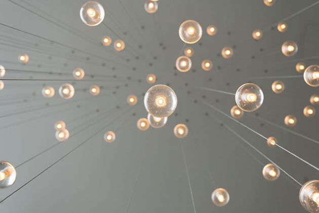 hanging lights stock