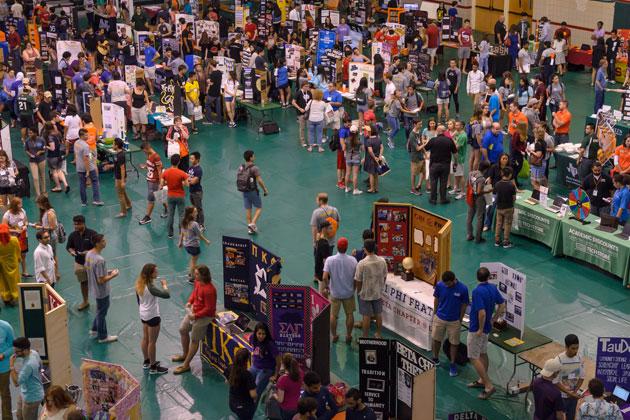 students attending a reverse career fair