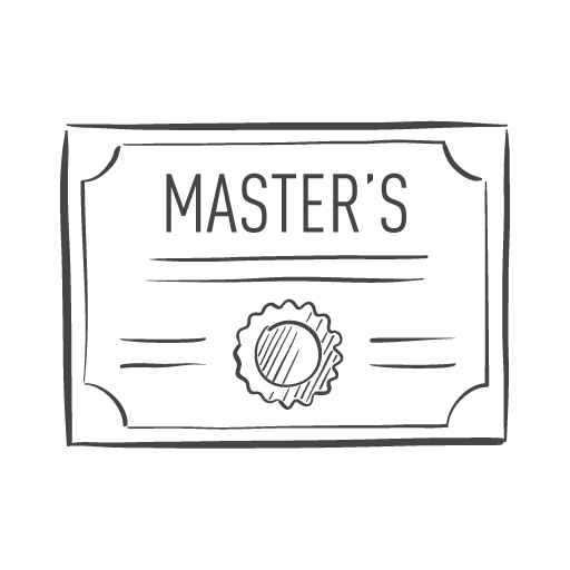 master's graduate degree icon