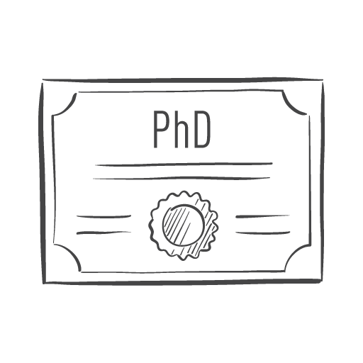 PhD degree icon
