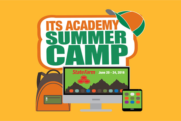 UT Dallas ITS Academy logo, Summer Camp