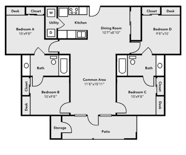 University Village Pricing And Floor Plans University Housing