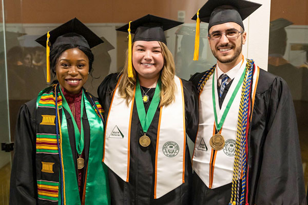 supply chain management honor students at graduation